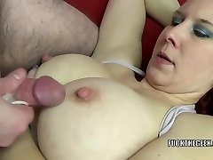 Redhead MILF Lia Shayde takes all the jism in her throat