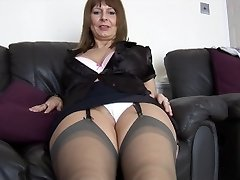 Mature busty secretary talks dirty