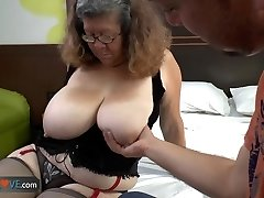 AGEDLOVE - Latin grannie Brenda seducing water supplier