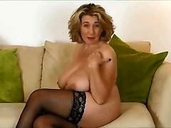 British Mature Waiting for Firm pink cigar in her Mouth.