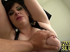 Chubby mature female Elouise Lust gargle and rough sex