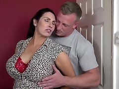 Booty busty mom suck and screw lucky son