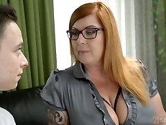 jauns students, fucks super juggy profesors tammy jean un cums uz viņas lielajiem pupiem