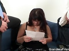 Two guys fuck hefty boobs chubby mommy