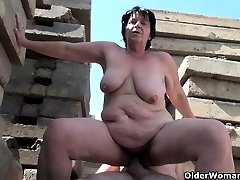 Grandma works hard on grandfather's small cock