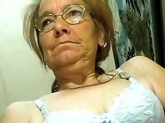 Scrawny Senior Grandmother does like a Cock