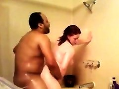 spying my moms multiracial shower fuck-a-thon