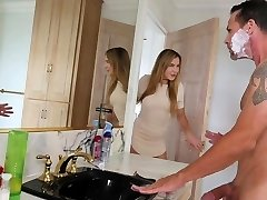 FamilyStrokes - Stepdaughter Fucks step-dad While Mom Showers