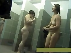 Middle-aged mothers naked in the shower #3