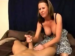 Step-Mummy gives step-son hand job
