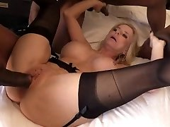 Granny Cammille gets loads of black cum inwards her cunt and