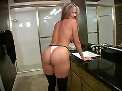 mommy and guy in bathroom