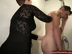 Gross Dutch Granny Fucks Office Dude