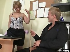 Office dame tears up her employee