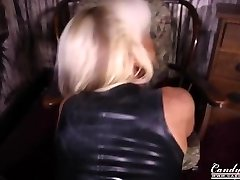 Candy Charms British massive Boobed Barbie in Latex POV sexy tease