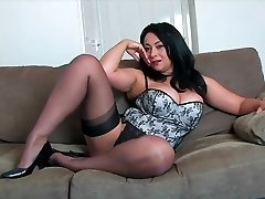 Danica Collins on High Heels and Pantyhose HD