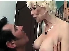Mature femdom fetish brit in pantyhose jerks losers dick