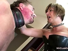 Mature Female Domination Loves Spanking Her Slave