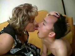 French Mature Dominatrix and her Sub