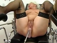 Grannie Norma Works out on a Sex Machine