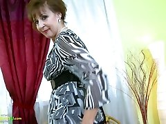 OldNannY Hot Ultra-kinky Grandma Enticing Striptease