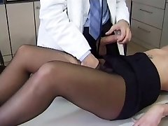 Sexy Patient in Black Pantyhose Gets Porked