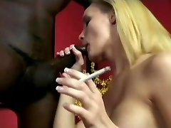Smoking Leah Wilde Inhales A Huge Black Pink Cigar