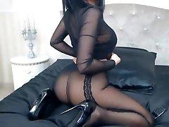 Celia in a black bodyseute