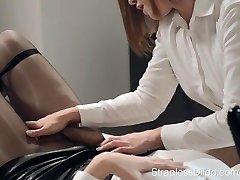 Danielle Sits on Ella Martin's Face Fuck Stick