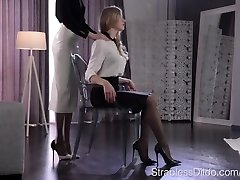Pantyhose Sole Massage and Tribbing until Org