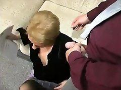 Blonde MILF Humped In Her Dark-hued Pantyhose