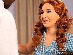 HDVPass Red-haired slut Ashli Orion sucks a big black cock