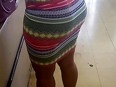Thick Milf  Wearing Skirt in Buck Store