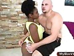 Wonderful ass ebony teenager gets big dick pounded 01