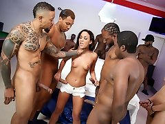 Interracial Gang-fuck With Anal Superslut Amara Romani