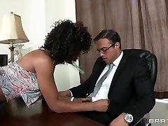 Steamy ebony nympho seeks sex doctor for help yet sh