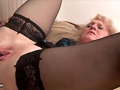 Grandma wants to fuck black guy in firm interracial