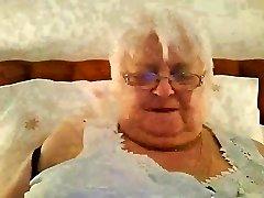 super-size-80y.o. british granny in schwarzen dessous