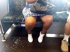 Ebony granny on the train