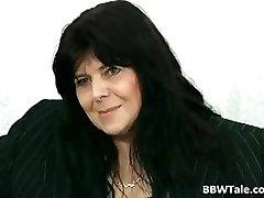 Dark-hued hair mature BBW slut gets her part2
