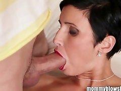 MommyBB Busty european Milf Maid is sucking the h
