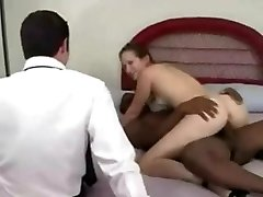 Delicious dark haired fucks a black guy