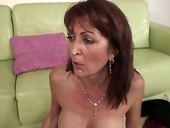 Busty MILF's cunt gets opened up by meaty black dick