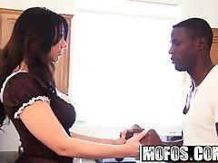 Mofos - Milfs Like It Dark-hued - Fat Ass Maid starring  Madison