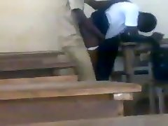 Teen African students boning doggstyle in class