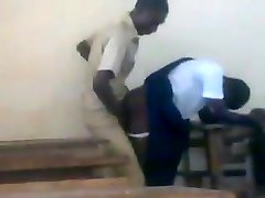 Teenie African college girls fucking doggstyle in class