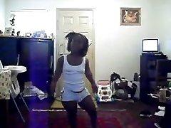 humungous black midget dancing