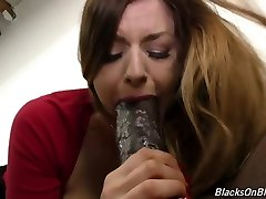 Big-chested girl Stella suck and fuck monster black pipe