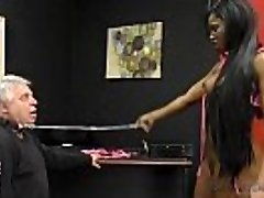 Jasmine Webb makes an Old White Pervert Lick Her Ebony Caboose and Feet