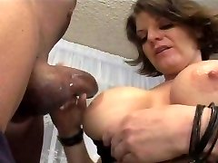 Horny honey wrestles a black cock